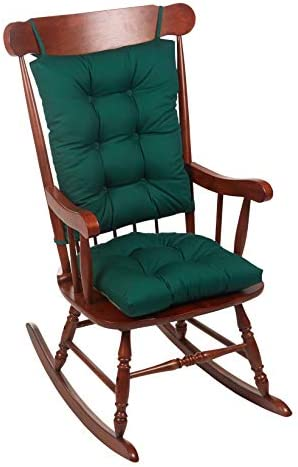 Best The Gripper Twill Jumbo XL Non-Slip Rocking Chair Cushion Set, Hunter Green