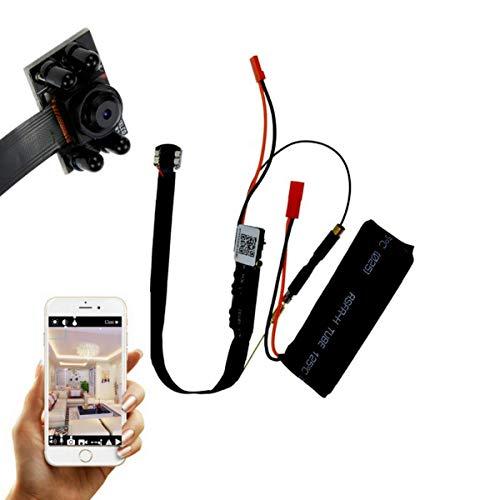 CursOnline Microspia Spy Camera Spia WIFI HD Infrarossi Motion Detection Telecamera Microcamera Micro Nascosta Digital Video Camera CCTV P2P con Antenna Esterna WiFi