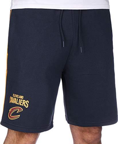 A NEW ERA NBA Stripe Piping Short Clecav Pantaloncini Corti, da Uomo, Uomo, Pantalone Corto, 11860090, Blu Scuro, XS