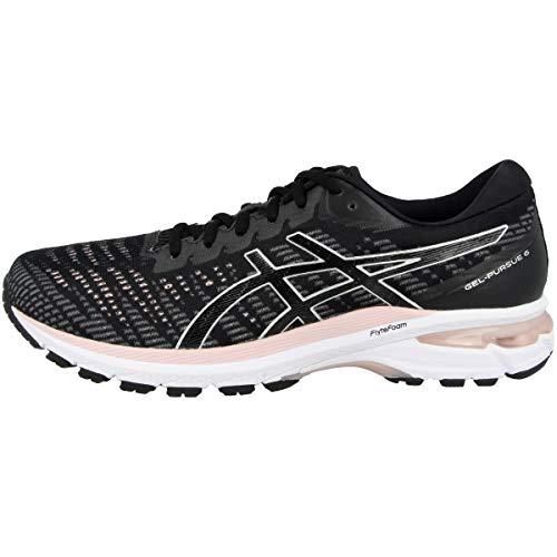 Asics Gel-Pursue 6 - Zapatillas de gel para mujer, negro/plateado, 41.5