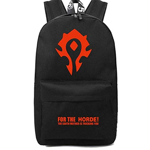 Betrothales Laptop Rucksack World of Warcraft Schultasche Rucksack Studenten Schultasche Handtaschen Travelbag Aufbewahrungstasche Kinder Tasche (Color : Rot/Black, Size : One Size)