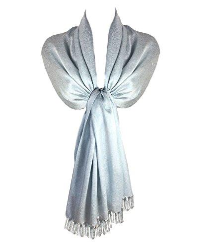 TOSKATOK Señoras para mujer con estilo Brillo Chispa de noche Pashmina Wrap Stole con acabado borla