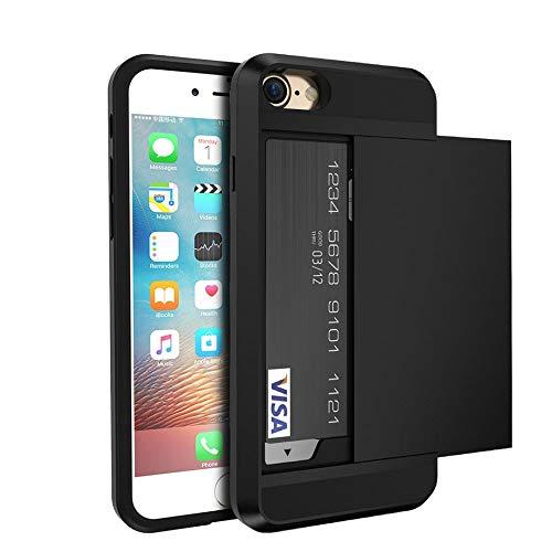 YHWW Displayschutz Für iPhone 5S 5 SE iPhone X XR XS Max 6 6S Hüllen Rüstungshülle Für iPhone X 7 6 6S Plus Kartenhalter Herren Telefonzubehör, Marineblau, Für i6 Plus i6s Plus