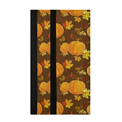 Autumn Pumpkin Orange Refrigerator Door Handle Cover Set of 2 Yellow Brown Red Fall Forest Maple Leaves Oak Tree Kitchen Appliances Gloves Fridge Oven Microwave Dishwasher Protector Decoration
