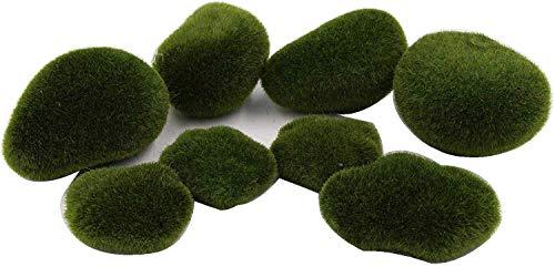 LeBeila Moss Balls Vase Filler Moss Balls Decorative Stones Artificial Different Size Moss Ball Decals for Wedding Event Home Outdoor Decoration Garden Ornaments Planter Decor (8pcs, Green)