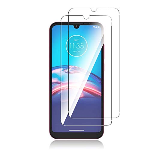 QULLOO Panzerglas Schutzfolie kompatibel mit Motorola Moto E6i / Moto E6s,[2 Stück] HD Klar Bildschirmschutz Folie Blasenfrei Anti-Scratch Ultra Dünn Bildschirmschutzfolie - Transparent