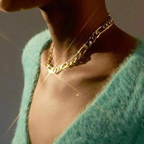 Collares Colgante Joyas Color Dorado Punk Vintage Collares Cadena Gruesa Collares Llamativos Colgantes Mujeres Jewelry-43681