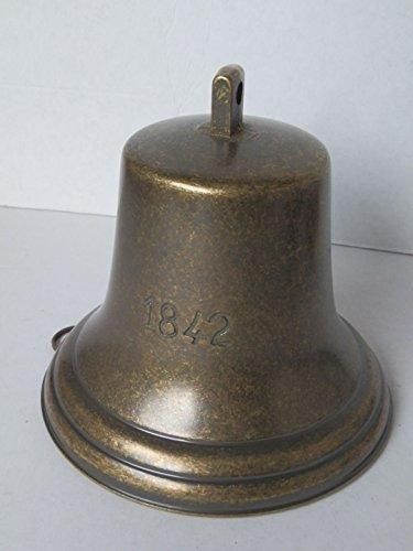 Cloche Campanaccio laiton 1842 à accrocher intérieur extérieur 18 cm