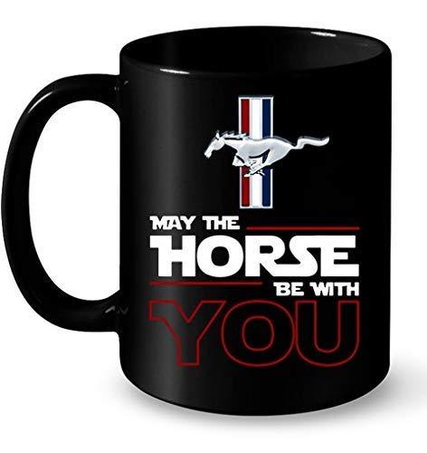 Lplpol Mug à café ou thé Ford Mustang May The Horse Be with You 325 ml