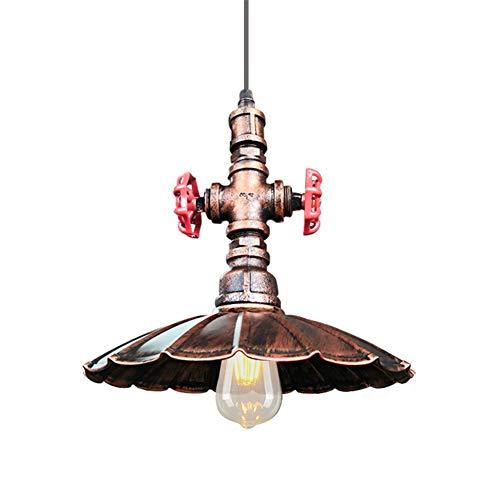 TUANTALL Tulipas De Lamparas Lampara Techo Cristales Colgantes Vintage Luces de Techo Cocina Pantalla Luces de Techo Colgantes Led Rust Red