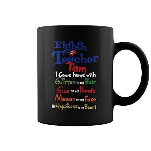 Octava taza del profesor Tazas de los profesores Taza de café (de color) Camping Viaje Taza de cerámica Botella de agua