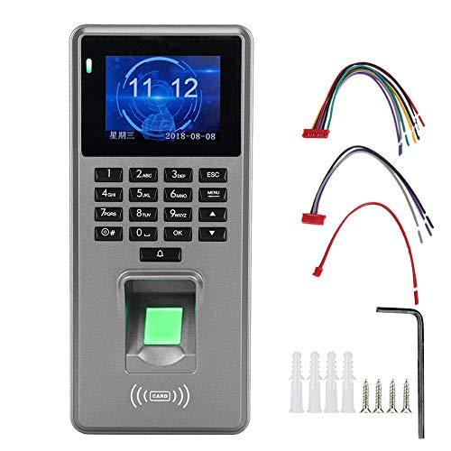 WENHANGshidai Control de acceso de 12 V PasswordDoor DC HD pantalla huella digital tarjeta seguridad control de acceso con asistencia, 2.8 pulgadas