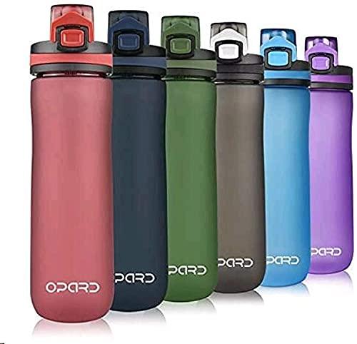 Opard Trinkflasche Sport 600ml - Wasserflasche aus Tritan, BPA-Frei, auslaufsichere Sportflasche, Water Bottle mit Sieb - Mit 1 klick öffnen - für Kinder, Schule, Sport, Fahrrad, Fitness