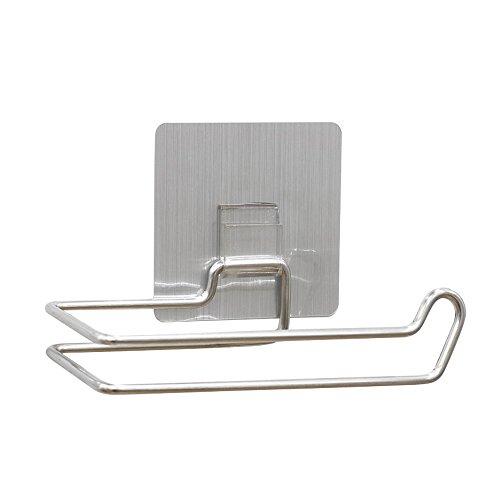Papierrollenhalter, einfach zu kleben Toilettenwand Papierhalter Handtuchhalter Selbstklebender wasserdichter Wandspender