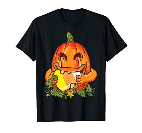 Kürbis Candy Corn Jack O Laterne Gruselig Halloween-Kostüm T-Shirt