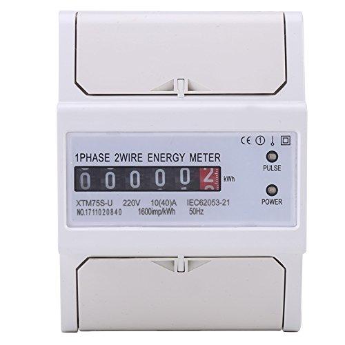 XTM75S-U Misuratore di Energia Contatore Elettrico di Energia Digitale LCD Digitale Monofase 2 Fili KWh Contatore Elettrico per Guida DIN 10 (40) A