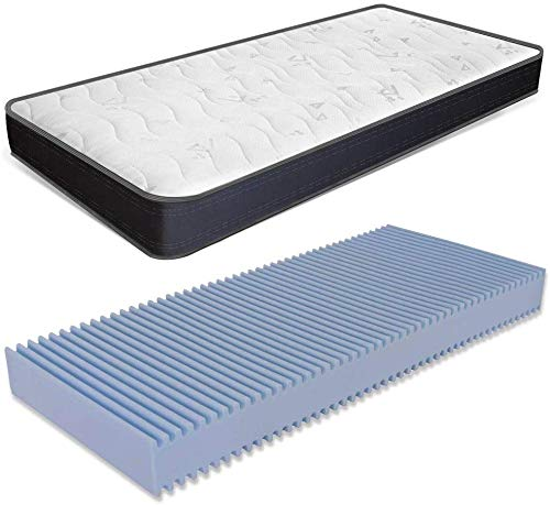miasuite i sogni italiani Materasso Singolo 80x180 Alto 22 cm in waterfoam Ortopedico con Dispositivo Medico Summit