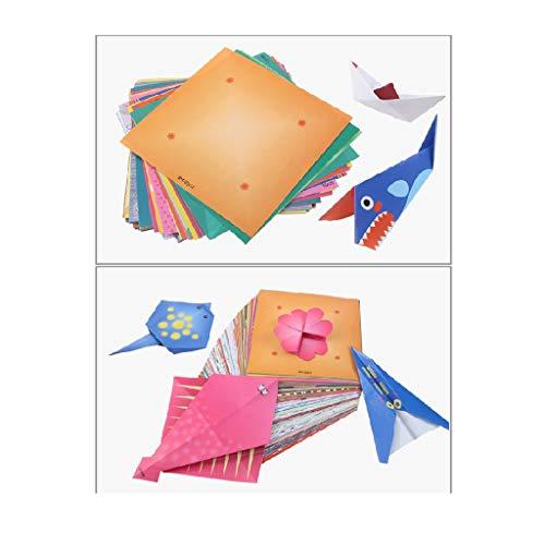 Yue668 - Cartón cuadrado colorido, origami, 200 hojas, bonito modelo de papel plegable artesanal, hojas de puntos, colores de estrellas, lindos