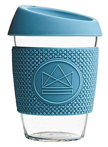 Neon Kactus Reusable Coffee Cups 12oz (Pastellblau)
