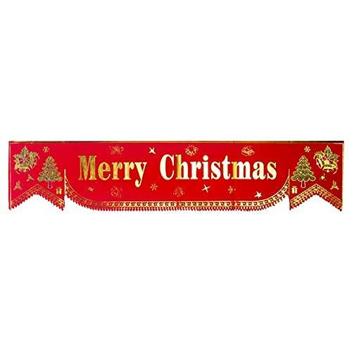 ZWWZ Wiederverwendbare Weihnachtsfahne Hängen Dekoration Tuch Fenster Flagge Ornamente Home Party Tür Dekorative Geschenke Wand MISU