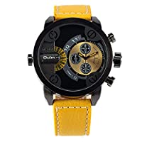 ZHANGZZ ハイエンドのファッションウォッチ, ファッションデュアルタイムゾーンメンズ腕時計/腕時計3130 (Color : 9)