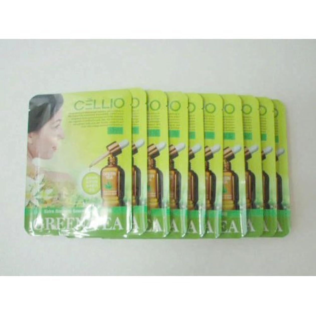 ビジュアルバングラデシュしかしながらCellio Extra Soothing Essential Mask_Green Tea_10 sheets