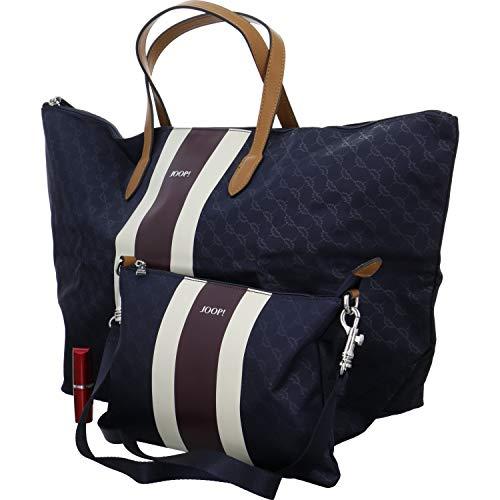 Joop! Damen Piccolina Due Helena Handbag Xlhz 1 Henkeltasche, Blau (Dark Blue), 24x34x58 cm