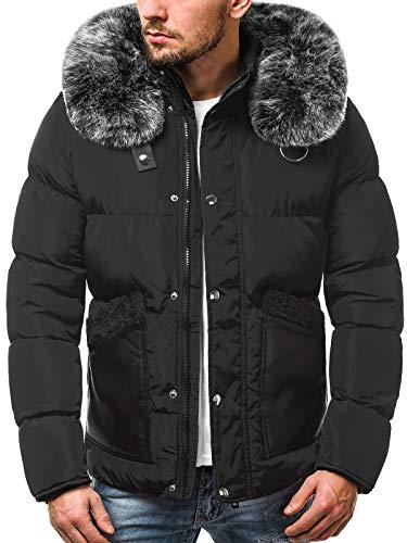 OZONEE heren winterjas jas winter kleurvarianten warm bomberjack gewatteerde jas wintermantel kunstbont donsjack lichte outdoor buffer jas gewatteerd J. Style 3046