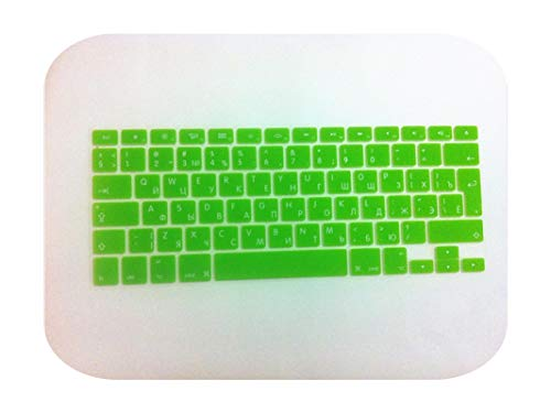 For Macbook Pro Air 13' 15' 17' Russian Uk Eu Silicone Keyboard Cover Skin Protector For Mac Air 13.3 5 17 Inch Keybord Cover-Green