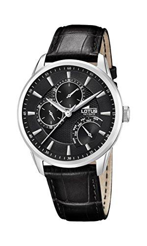 Lotus Watches Reloj Multiesfera para Hombre de Cuarzo con Correa en Cuero 15974/A