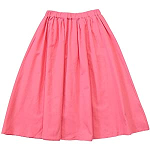 [Bee]韓国子供服 フレアーロング丈スカート スカート/スカッツスタンダード 女の子 キッズ 無地 100cm ピンク