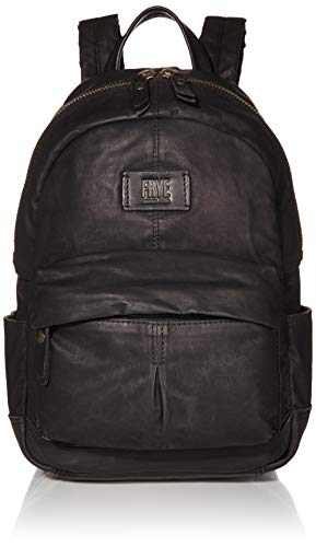 FRYE Scout Waxed Canvas Small Backpack, Black