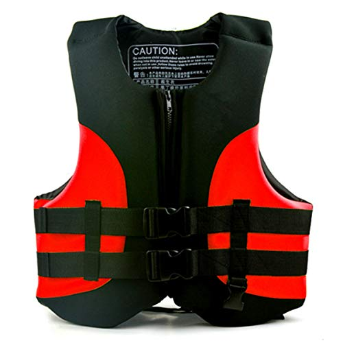 Magnifier Chaleco Salvavidas, Chaleco Flotante, Ayuda a la flotabilidad para Nadar, Kayak, canotaje, Pesca, lancha motora para Hombres y Mujeres,Rojo,M