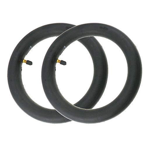 Flycoo2 - Cámara de aire de 10 pulgadas, 10 x 2 pulgadas para Xiaomi M365 Patinete eléctrico modificación compatible con neumáticos de 10 pulgadas, 2 Pieces, color Negro