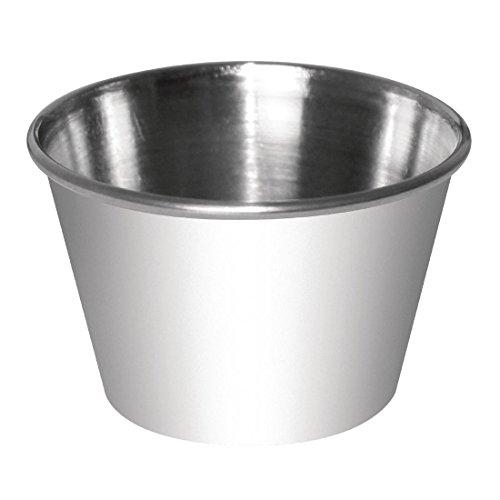 Olympia cd478 Pot à Sauce, en acier inoxydable, 230 ml (Lot de 12)