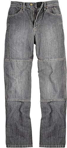 Draggin Jeans Silverback Motorrad-Hose mit Kevlar-Innenteil - Dyneema - high Riese relaxe fit, Farbe:grau, Größe:38/97cm