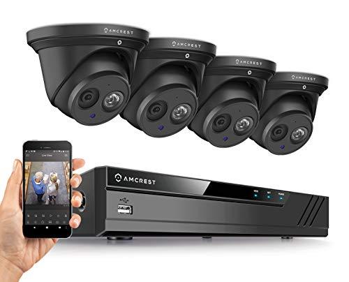 Amcrest 4K Security Camera System w/ 4K 8CH PoE NVR, (4) x 4K (8-Megapixel) IP67 Weatherproof Metal...