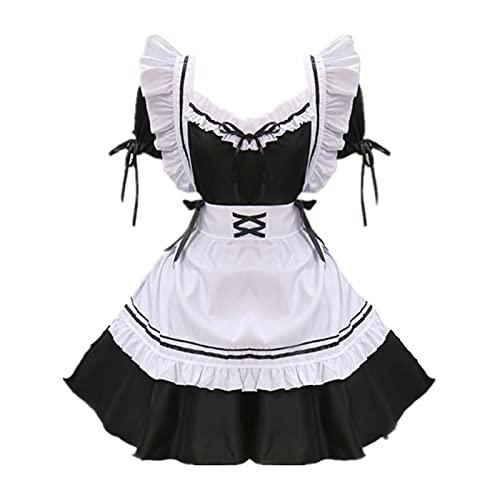 ULLAA Disfraz de cosplay de Halloween de mascarada milagro Nikki Nikki Game Maid Delantal de vestir trajes de fiesta de Navidad vestido de fantasía lindo traje de falda
