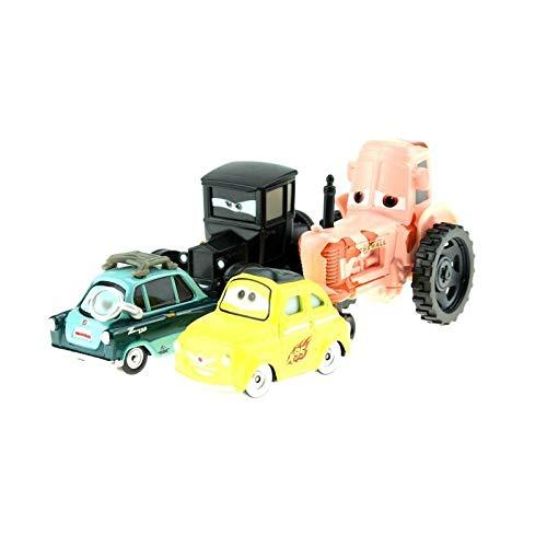 Desconocido Disney Disney Pixar Cars Cartoon Cars Lizzie Tractor Luigi Guido 1:55 Diecast Metal Alloy Cars Model Year Gift For Childrens 4pcs Lot