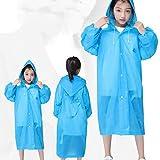 weichuang Chubasquero de material EVA de buena suavidad y elasticidad de goma EVA impermeable impermeable impermeable para niños no desechable (color: azul)