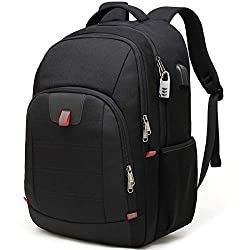 ✈LARGE CAPACITY - Men travel backpack owns 20+ Independent pockets for large storage and organization for small items. 3 spacious main multi compartments with many hidden pockets can accommodate lots of stuffs like college supplies, travel accessorie...