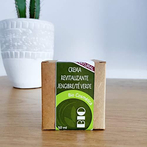 Crema Hidratante facial bio Revitalizante con Jengibre, te verde y Aceite de Uva y Oliva