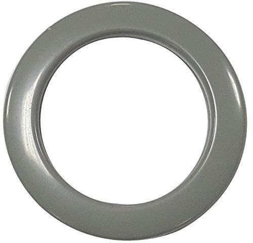 PLASTIC-ROUND CURTAIN GROMMET PLAIN WASHER (50mm) (Grey)