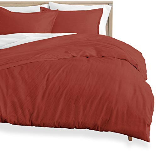 Bare Home Duvet Cover and Sham Set - Double Size - Premium 1800 Ultra-Soft Brushed Microfiber - Hypoallergenic, Easy Care, Wrinkle Resistant (Double, Sandwashed Rosewood)