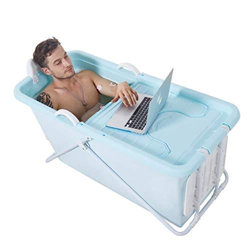 GX Faltbadewanne Erwachsene Faltbadewanne Erwachsene Badewanne Haushalt Kinder Körper Badewannen (Color : Blue, Size : 124 * 59 * 53cm)