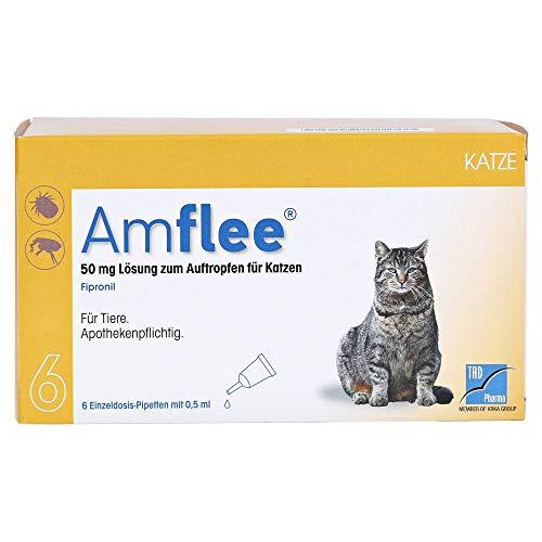 Amflee 50 mg Lösung zum Auftropfen für Katzen, 6 St