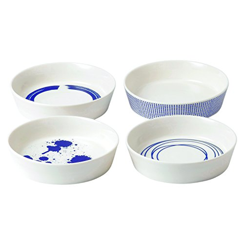 Royal Doulton Pacific Round Serving Mixed Patterns Dishes Plate (Set of 4), 6.3, Multiple by Royal Doulton