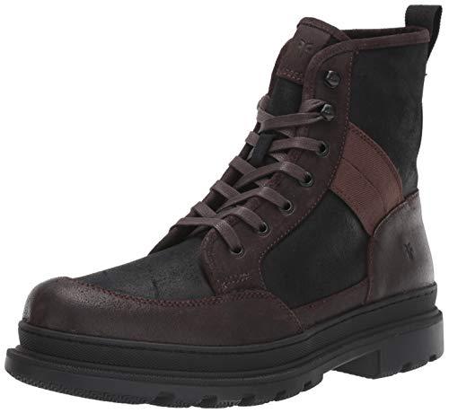 FRYE Men's Scout Combat Boot, Black Multi, 8 M US