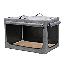 petsfit travel collapsible soft dog crate
