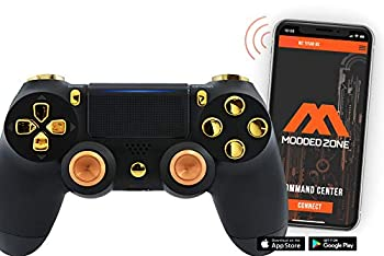 Smart Black/Gold with Aluminum Thumbsticks PS4 PRO Modded Controller for Rapid Fire FPS MOD Pack Custom Modded Controller for All Major Shooter Games Warzone & More  CUH-ZCT2U